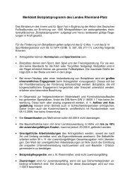Merkblatt Bolzplatzprogramm des Landes Rheinland-Pfalz - Aufsichts
