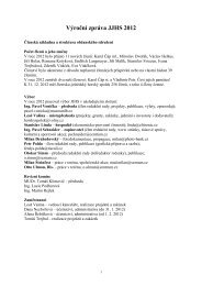 Výroční zpráva JJHS 2012 - Jizersko-ještědský horský spolek