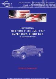 "2004 FORD F-150, 4x4, ""FX4"" SUPERCREW, SHORT BOX"