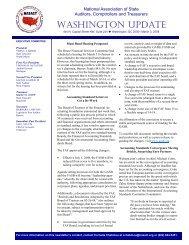 Washington Update - National Association of State Auditors ...