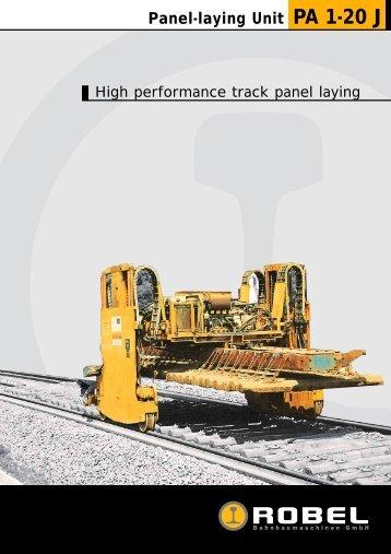 Panel-laying Unit PA 1-20 J