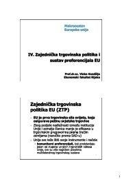 Zajednička trgovinska politika EU - Ekonomski fakultet Rijeka