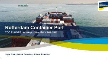Rotterdam Container Port - Port of Rotterdam