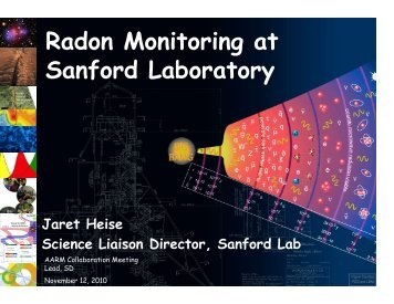 Radon Monitoring at Sanford Laboratory