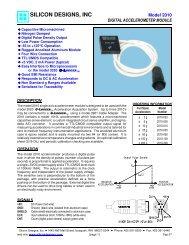 Model 2010 1-Axis Accelerometer - Silicon Designs, Inc.