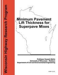 Minimum Pavement Lift Thickness for Superpave Mixtures - WisDOT ...