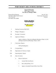 Information - Port Huron Area Schools