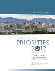 Final Program - Priorities 2012