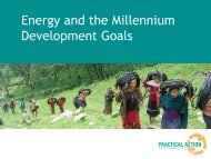 Energy and the Millennium Development Goals - Practical Action