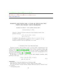 positive solutions for a class of singular two point boundary value ...