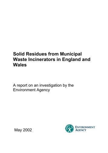 Solid Residues from Municipal Waste Incinerators in England and ...