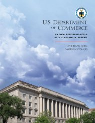 FY 2006 Performance and Accountability Report - Department of ...