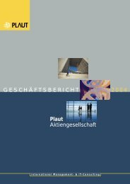 Plaut Aktiengesellschaft - Plaut International Management Consulting