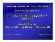 Relatore: Prof. Giorgio Pizzocaro - Oncologia Rimini