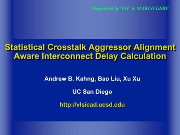 Statistical Crosstalk Aggressor Alignment Aware Interconnect ... - SLIP