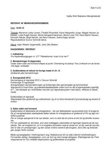 19. marts - Vejlby-Strib-Røjleskov pastorat