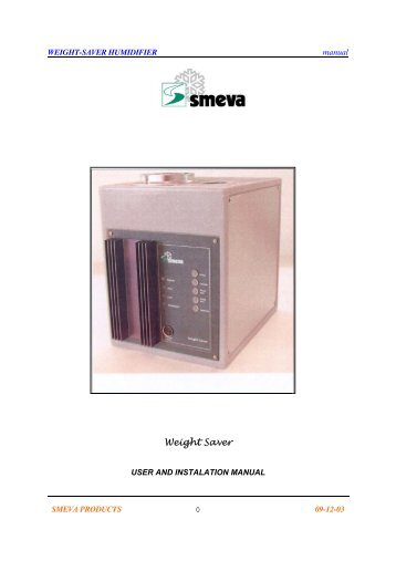 Weightsaver humidification system user manual - Phoenix Retail ...