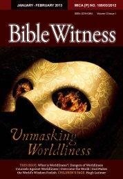 Unmasking Worldliness - Bible Witness