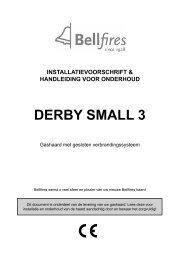 Installatie en gebruikershandleiding Bellfires Derby ... - UwKachel