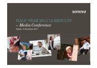– Media Conference HALF-YEAR 2011/12 RESULTS - Sonova