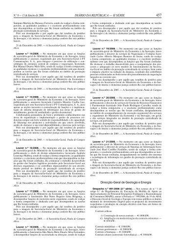 N.o 8 — 11 de Janeiro de 2006 DIÁRIO DA REPÚBLICA — II SÉRIE ...