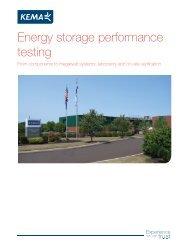 Energy storage performance testing - DNV Kema