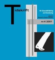 Tidskrift för lärarutbildning och forskning nr. 4 2001