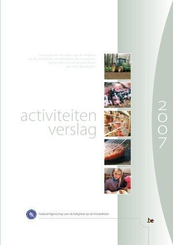 Activiteitenverslag 2007 van het FAVV