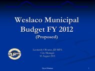 2. Municipal Budget FY2011-12 - City of Weslaco