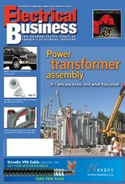 Page 11 Page 34 Page 22 - Electrical Business Magazine