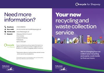 Your new recycling and waste collection service - Shepway District ...