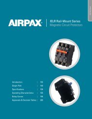 Specifications - Airpax - Sensata
