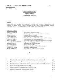 PV – 2010 05 03 - Sciences Po