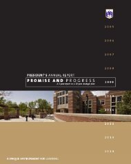 President's Annual Report - Westminster College