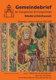 2012 Dezember – 2013 Januar – Februar - Friedenskirche ...