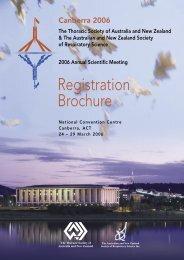 Registration Brochure - Australian & New Zealand Society of ...