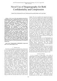 Novel Use of Steganography for Both Confidentiality and ... - IJET