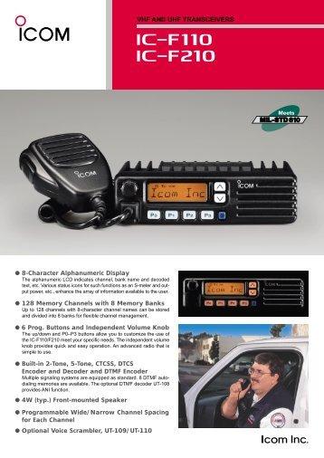 Icom IC-F110/F210 - RadCom