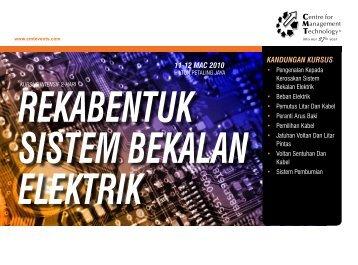 KANDUNGAN KURSUS 11-12 MAC 2010 - CMT Conferences