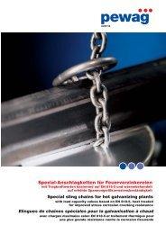 Elingues de chaînes spéciales pour la galvanisation à chaud