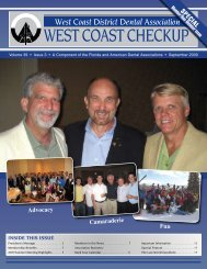 WEST COAST CHECKUP - West Coast Dental Association
