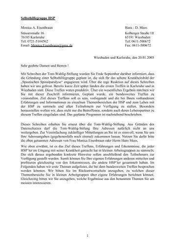Einladung zum HSP-Treffen in Kassel - HSP-Selbsthilfegruppe ...