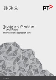 Scooter and Wheelchair Travel Pass - Public Transport Victoria