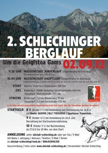 2. SCHLECHINGER BERGLAUF