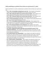 Andere aandoeningen en problemen die een reden ... - Fier Fryslân