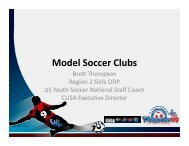 Model Soccer Clubs - US Youth Soccer