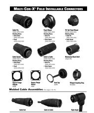 multi-con-x® field installable connectors - Moxley Electronics