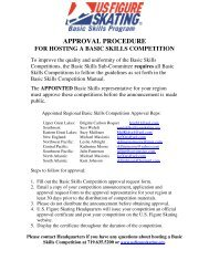 Basic Skills Competition Approval Request Form - US Figure Skating