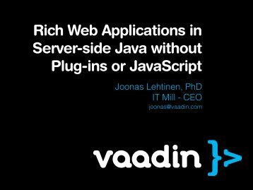 Rich Web Applications in Server-side Java without Plug ... - GeeCON
