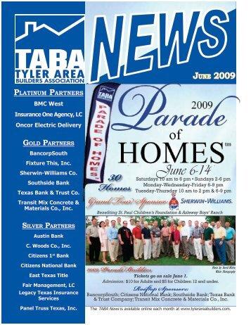 June 6-14 Homes - Tyler Area Builders Association
